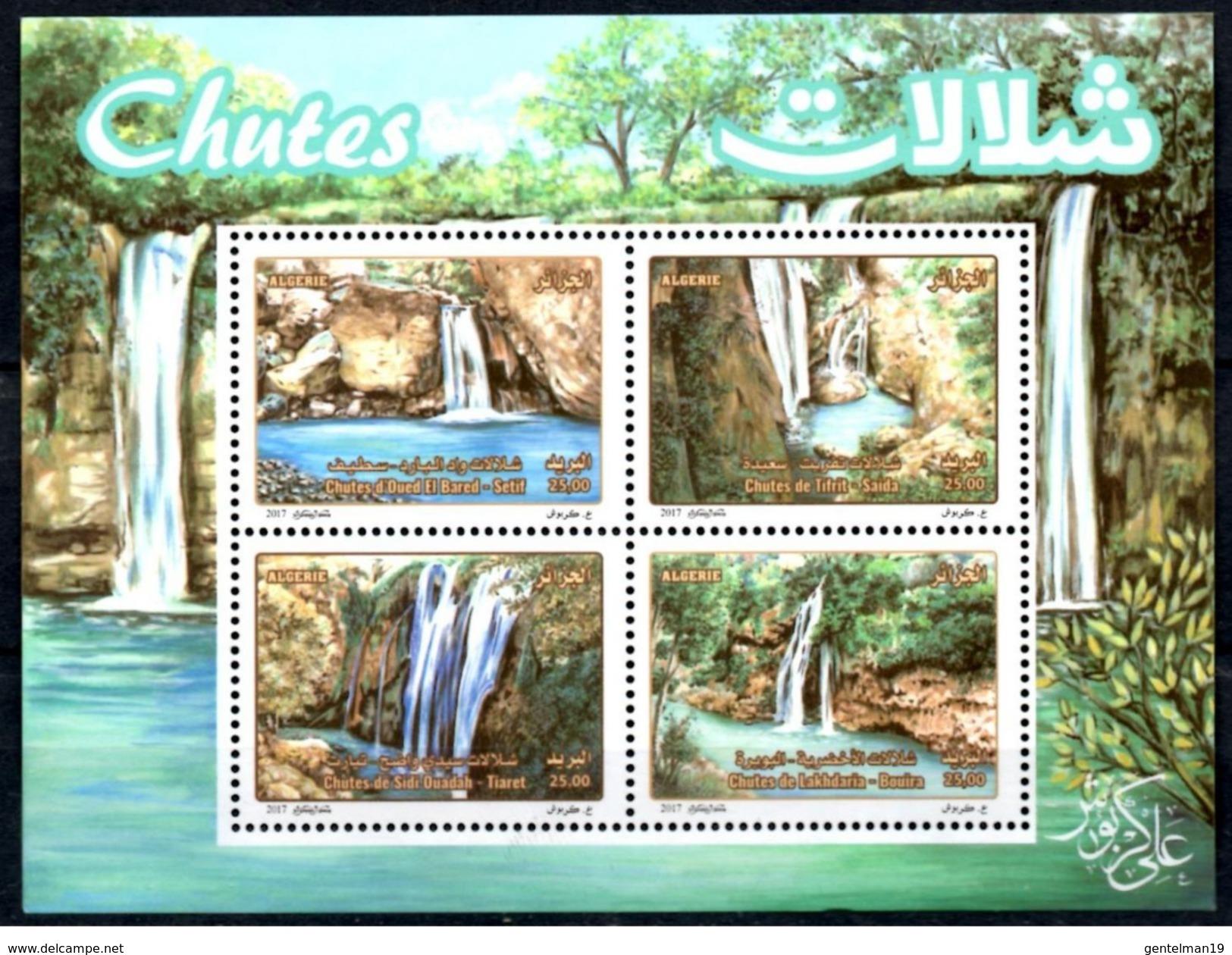 ALGERIE ALGERIA 2017 1BF Sheet MNH ** Chutes Cascades Wasserfälle Eau Water Wasser Tourisme Tourism - Archeologia