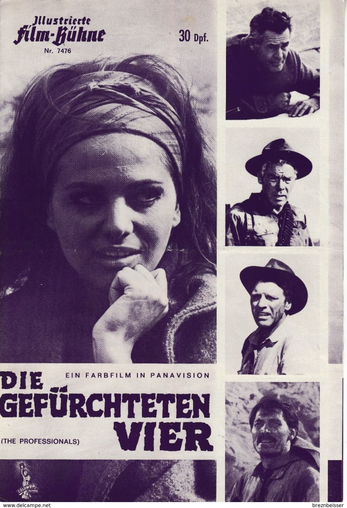 """Illustrierte Film-Bühne Nr. 7476 """"Die Gefürchteten Vier"""" - Zeitschriften"""