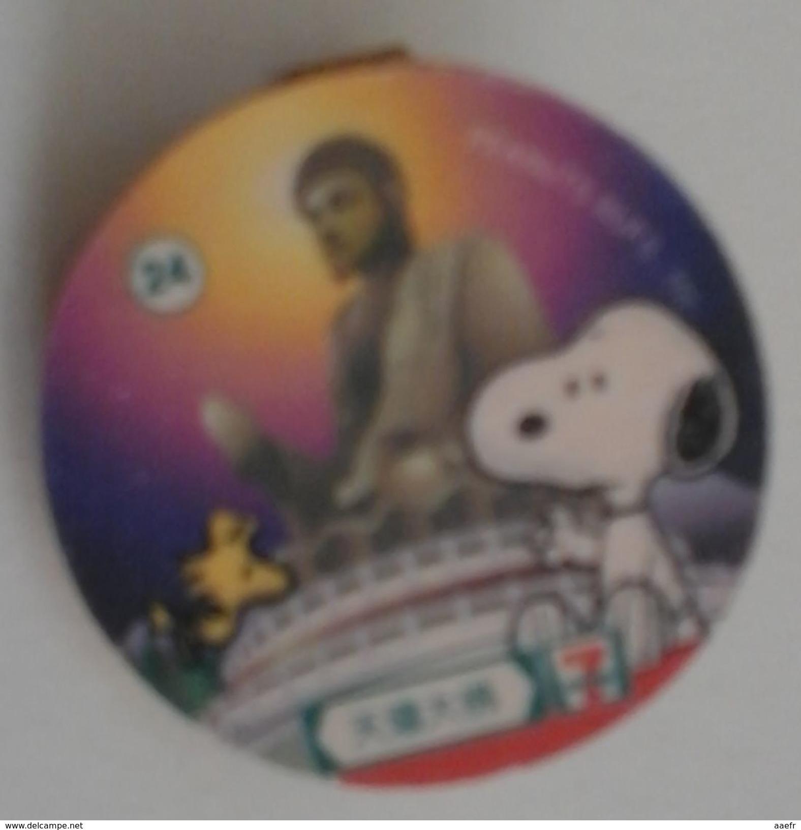 Magnet SNOOPY - PEANUTS - 7 Eleven De Hong-Kong - 2007 - N°24 Avec Bouddha De Tian Tan à Lantau - Humoristiques