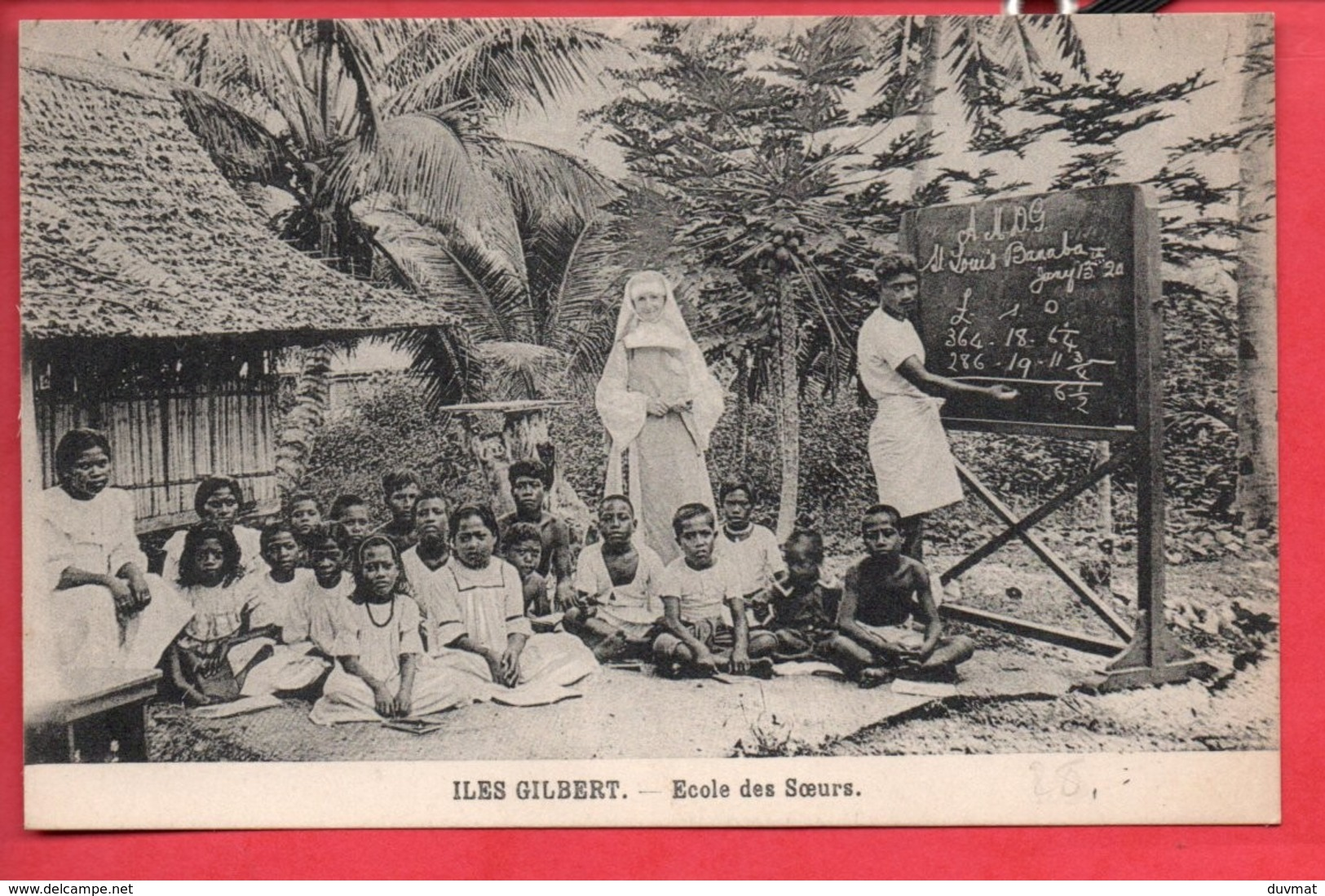 Oceanie Kiribati Iles Gilbert Ecole Des Soeurs ( Format 9x 13,8 ) - Kiribati