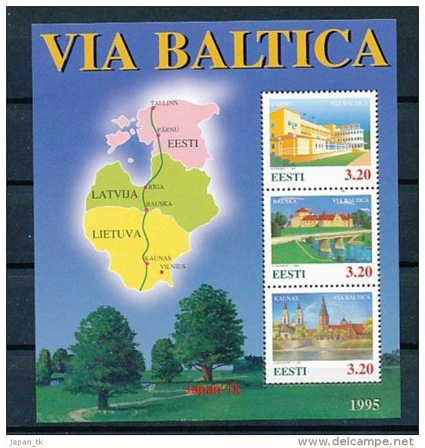 ESTLAND Mi.Nr. Block 8 Via Baltica -MNH - Estonia