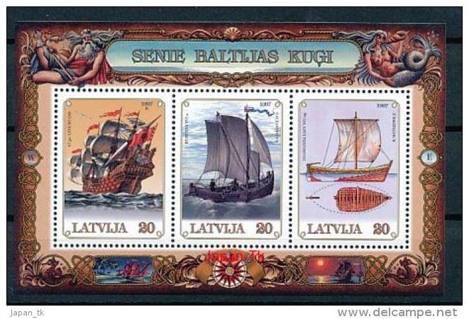 LETTLAND Mi.Nr. Block 11 Alte Schiffe Auf Der Ostsee -MNH - Latvia