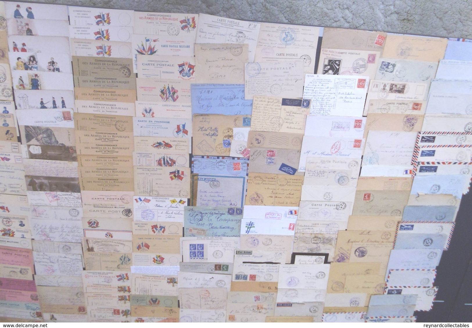 **REDUCED*France Military Postal History Colln(280+).1900s-1991 Daguet.Carte En Franchis, FM,Ravitaillement,Vietnam++ - France