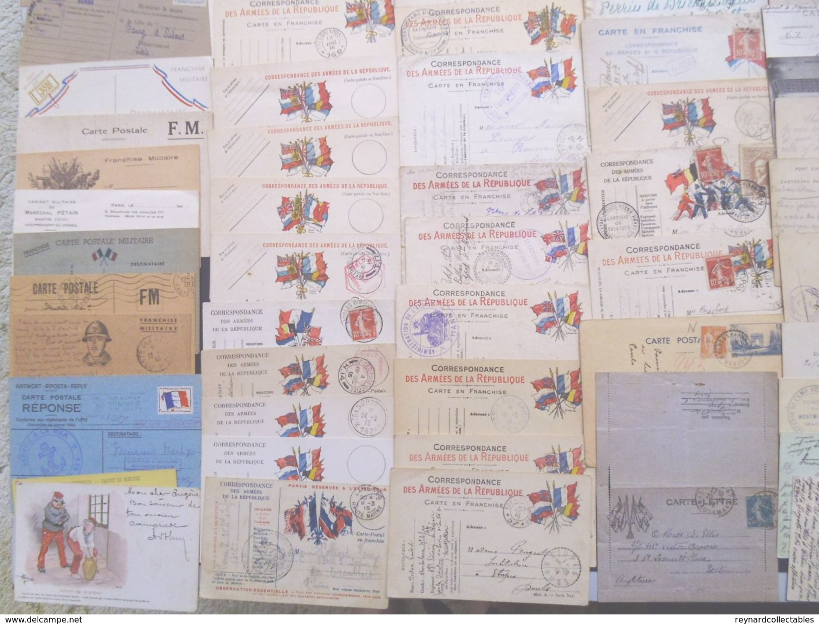 France Military Postal History Colln(280+).1900s-1991 Daguet. Carte En Franchis, FM, Ravitaillement,Vietnam++ - France