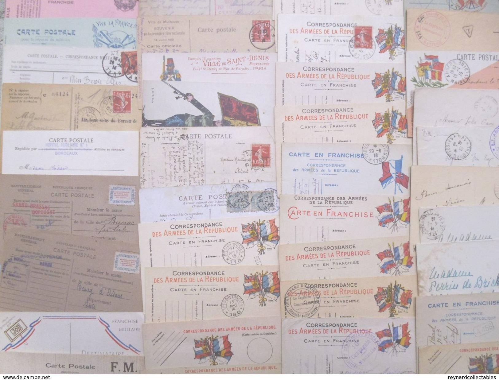 **REDUCED*France Military Postal History Colln(280+).1900s-1991 Daguet.Carte En Franchis, FM,Ravitaillement,Vietnam++ - Collections