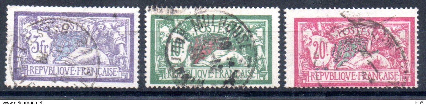 FRANCE - YT N° 206 à 208 - Cote: 65,00 €  - (DF) - Oblitérés