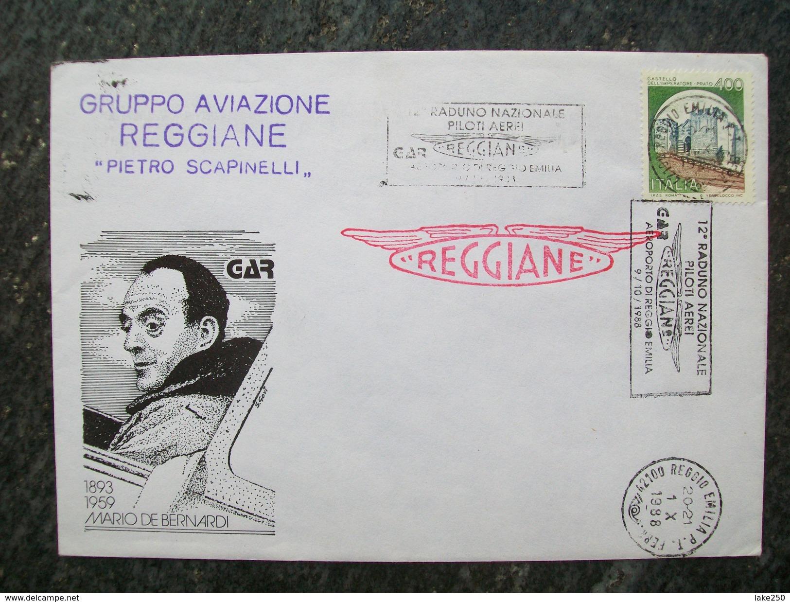 BUSTA GRUPPO AVIAZIONE REGGIANE PIETRO SCAPINELLI MARIO DE BERNARDI  1988 - 1946-....: Era Moderna