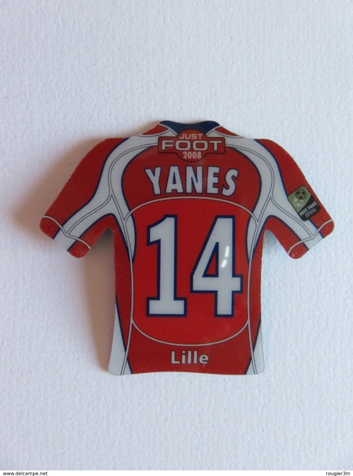 Magnet - Just Foot 2008 - Yanes - Maillot N° 14 - Lille - Sports
