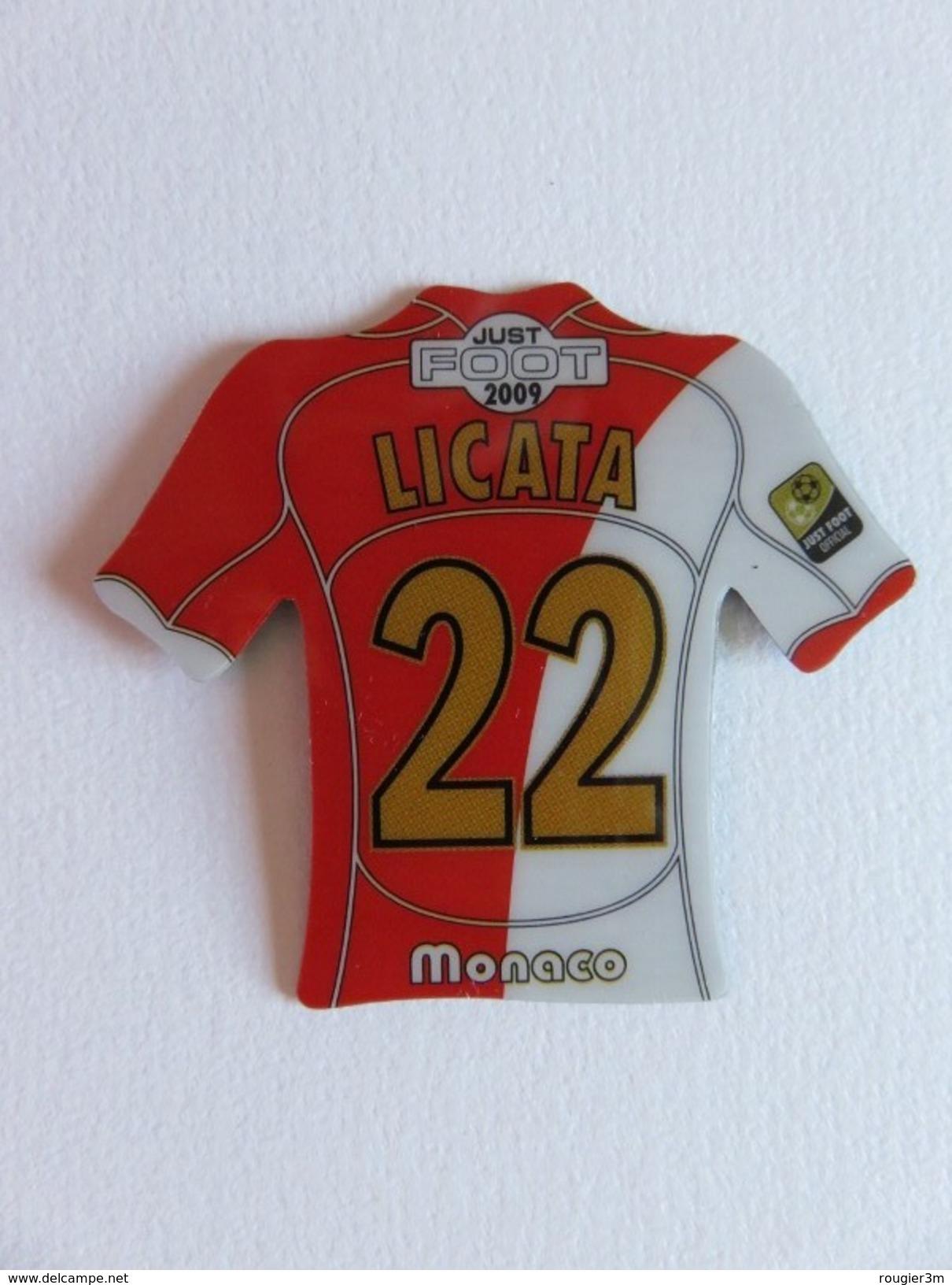 Magnet - Just Foot 2009 - Licata - Maillot N° 22 - Monaco - Sports