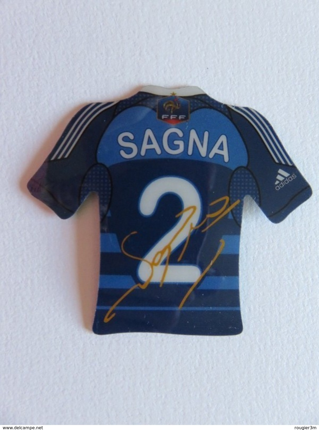 Magnet - Maillot De Foot - Sagna - N° 2 - FFF - Equipe De France - Adidas - Sports