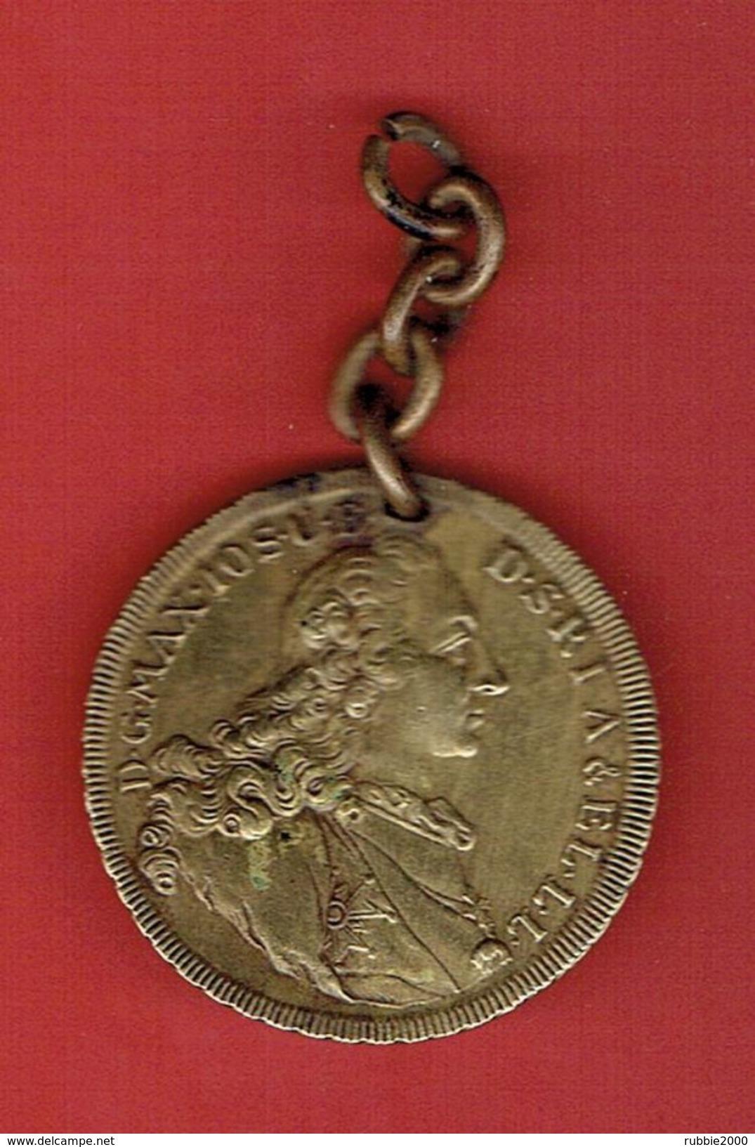MEDAILLE MAXIMILIEN III JOSEPH DE BAVIERE ALLEMAGNE 1760 BAYERN MAXIMILIAN III PATRONA BAVARIAE - Royaux/De Noblesse