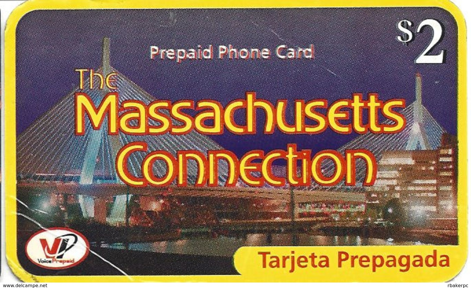 The Massachusetts Connection - Paper Prepaid Phone Card - United States
