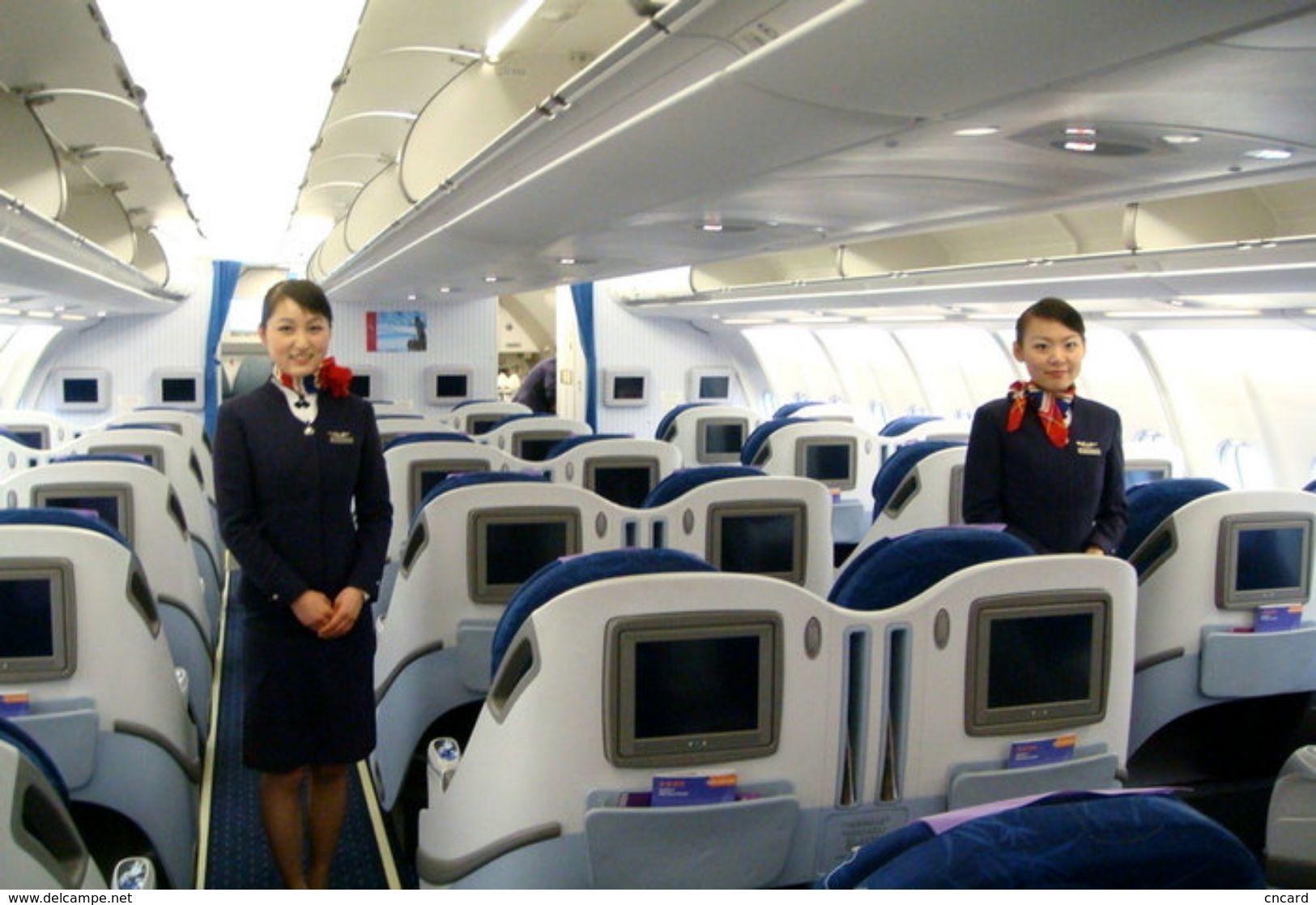 T80-077  ]  Flight Attendants Air Attendants Stewardesses Hostesses Cabin Crew , China Pre-paid Card, Postal Statioery - Other