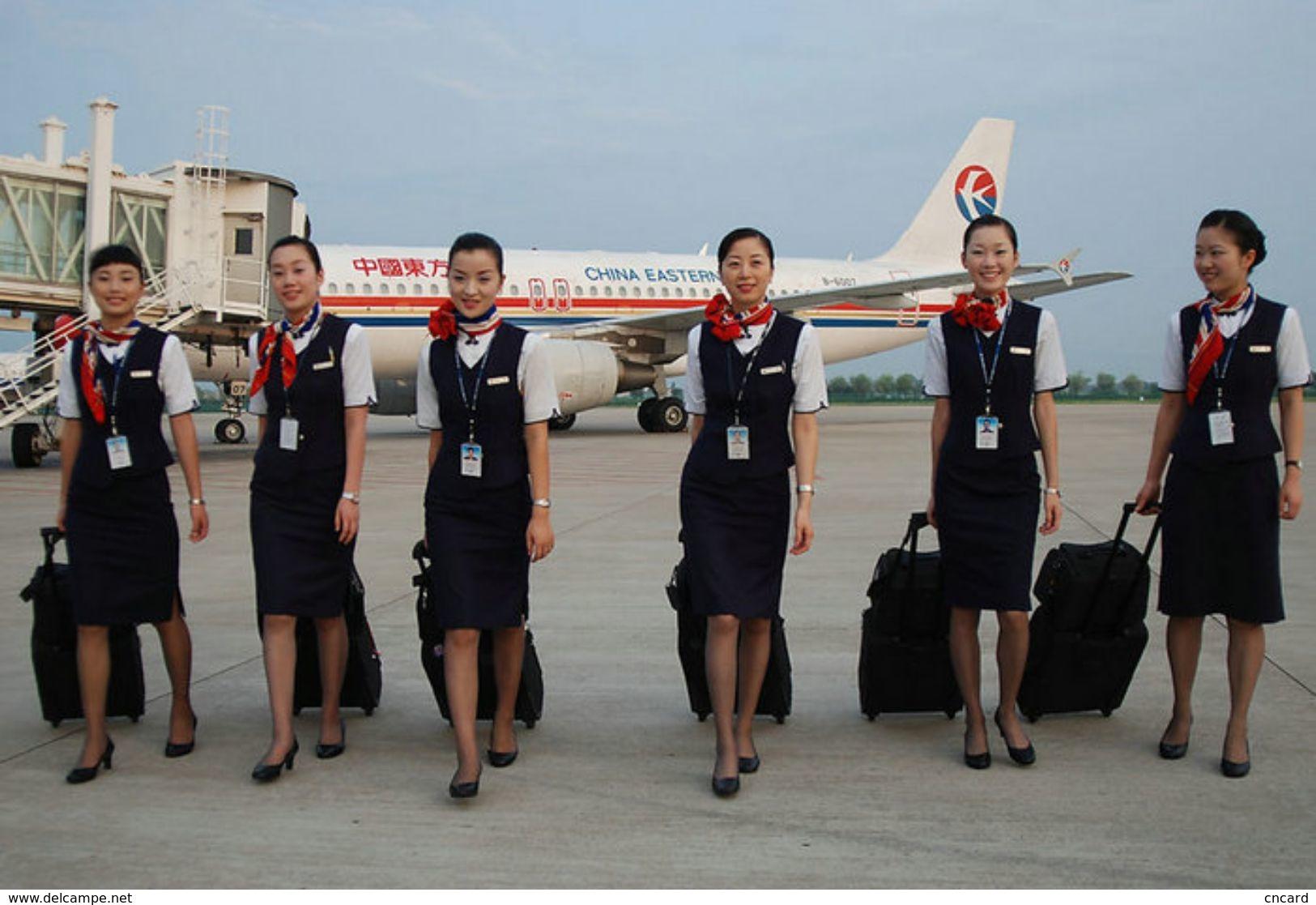 T80-078  ]  Flight Attendants Air Attendants Stewardesses Hostesses Cabin Crew , China Pre-paid Card, Postal Statioery - Jobs