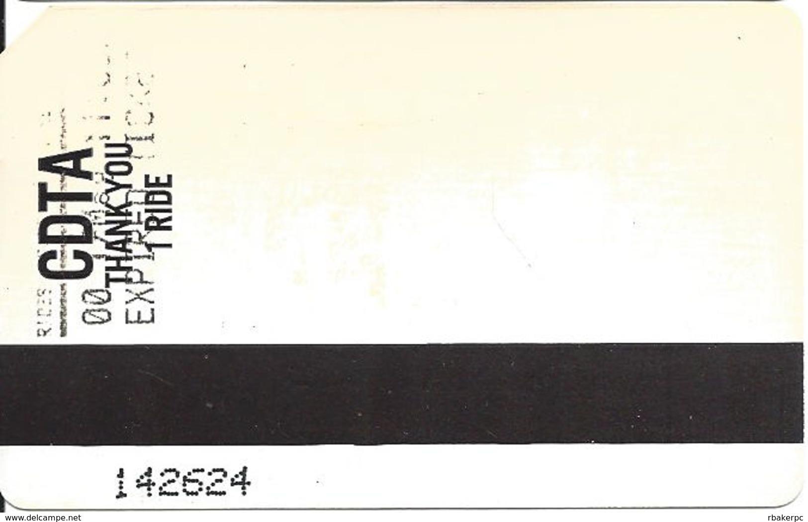 Paper CDTA One Ride Bus Ticket - Transportation Tickets
