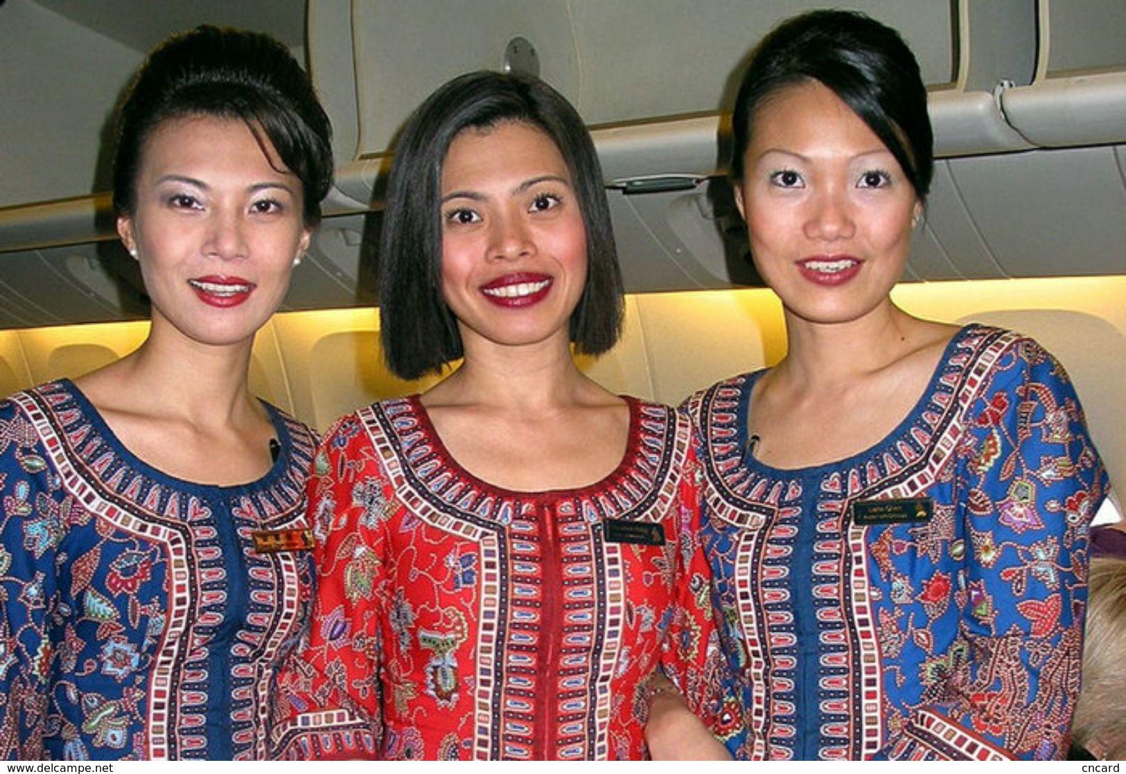T80-094  ]  Flight Attendants Air Attendants Stewardesses Hostesses Cabin Crew , China Pre-paid Card, Postal Stationery - Jobs
