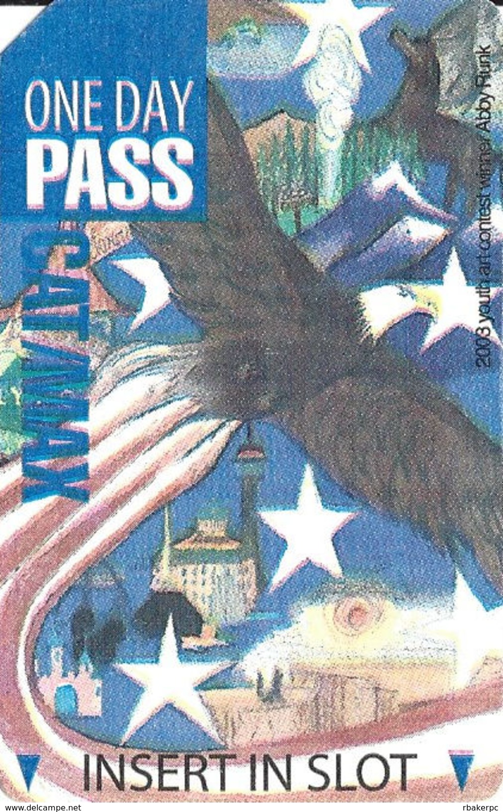 Paper CAT MAX One Day Pass Ticket - 78mm Wide Text Over Mag Stripe - Transportation Tickets