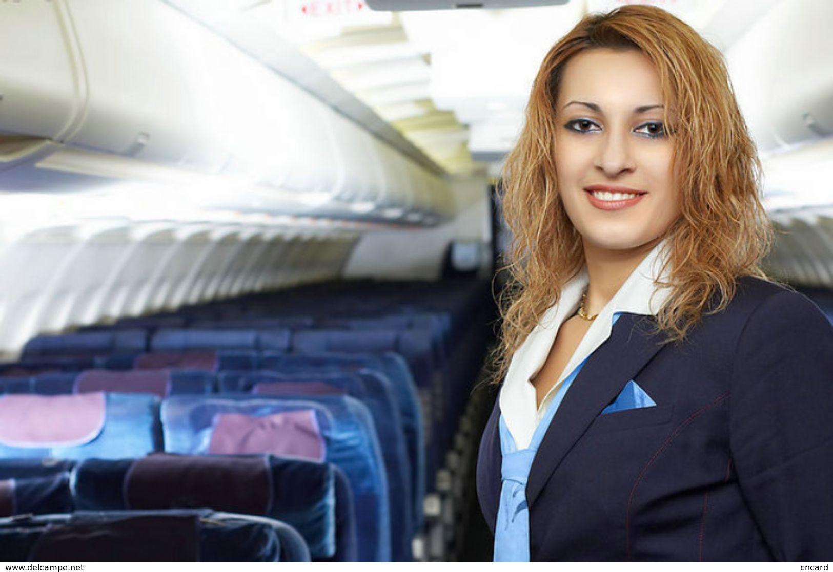 T80-100 ]  Flight Attendants Air Attendants Stewardesses Hostesses Cabin Crew , China Pre-paid Card, Postal Stationery - Jobs