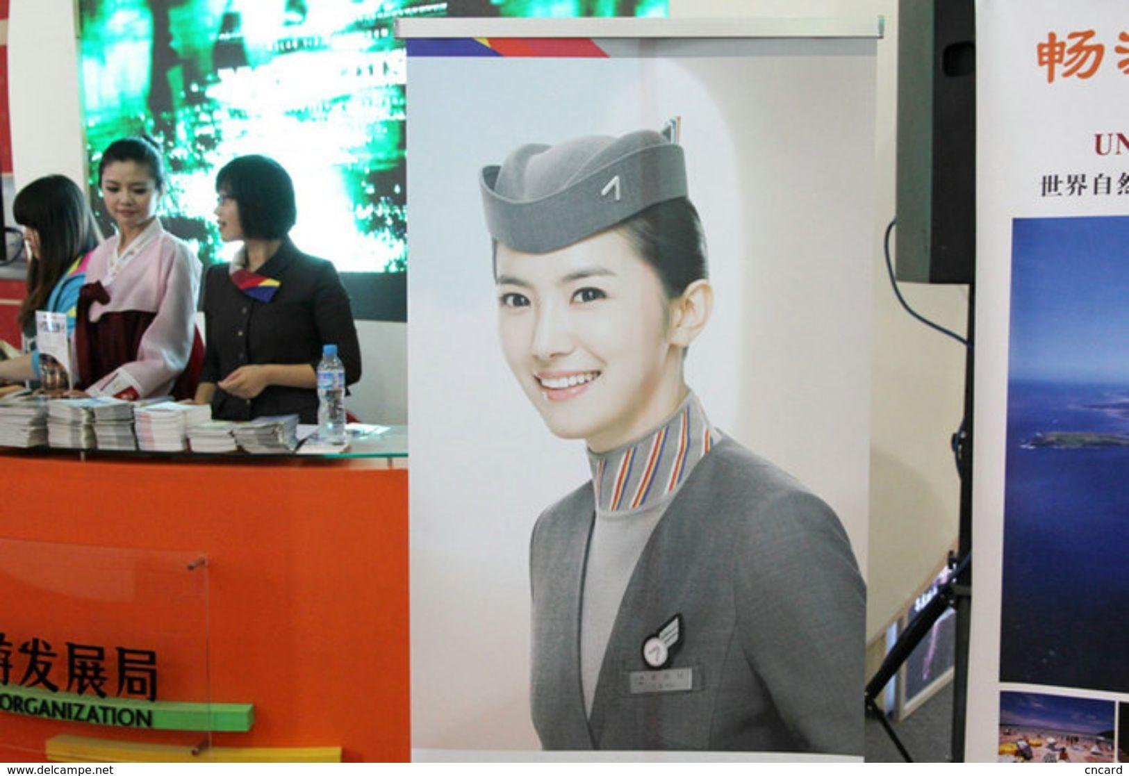T80-126 ]  Flight Attendants Air Attendants Stewardesses Hostesses Cabin Crew , China Pre-paid Card, Postal Stationery - Jobs