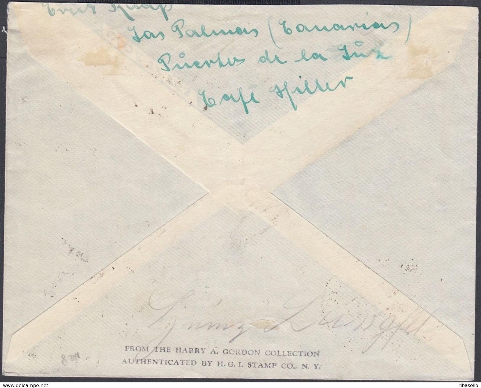 España 1937. Canarias. Carta De Las Palmas A Alemania. Censura. - Marcas De Censura Nacional