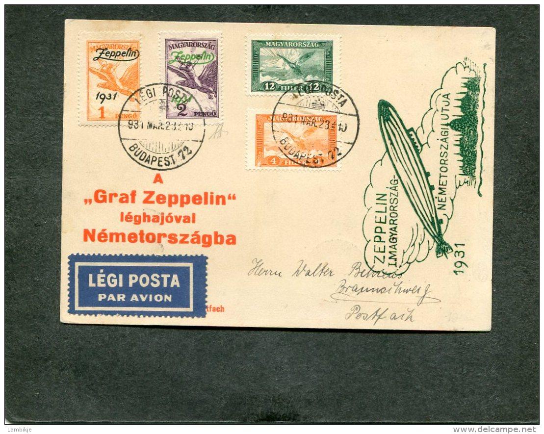 Hungary Zeppelin Postkarte 1931 - Hongrie