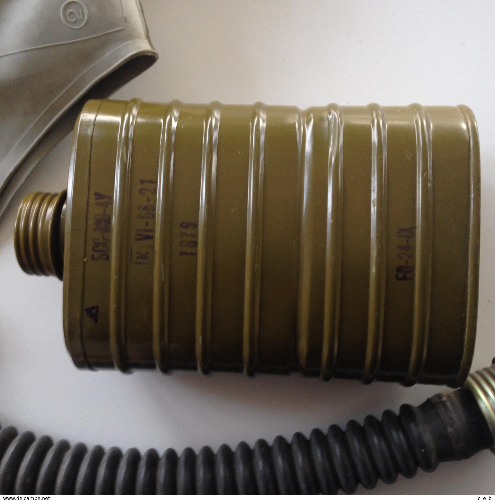 Mascara BSS-MO-4U AntiGas Búlgara. Soviética. Comunista. Guerra Fría. Años ´70. Ejército Búlgaro - Equipement