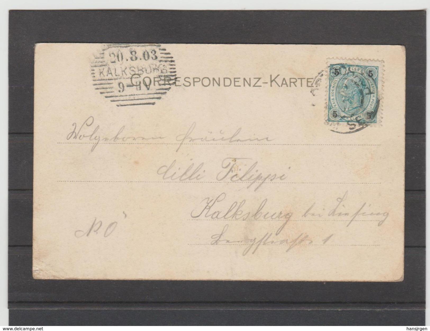 ZAK760  ALTE CORRESPONDENZKARTE JAHR 1903 AUSBLICK Von Der See-Restauration GEBRAUCHT  SIEHE ABBILDUNG - Pörtschach