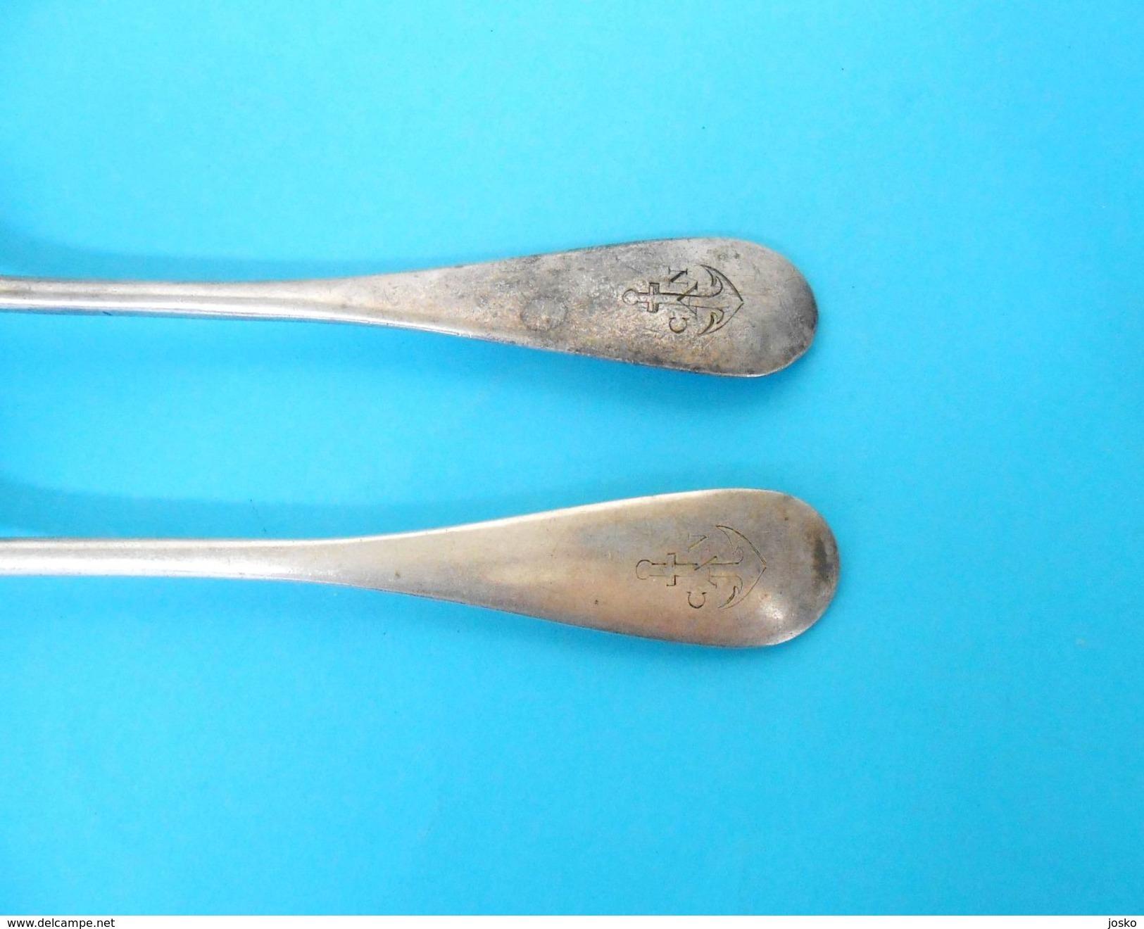 COMPAGNIE AFRICAINE DE NAVIGATION - Was A Belgium Shipping Company * Vintage Set Spoon + Fork * Cuiller Fourchet Belgie - Boats