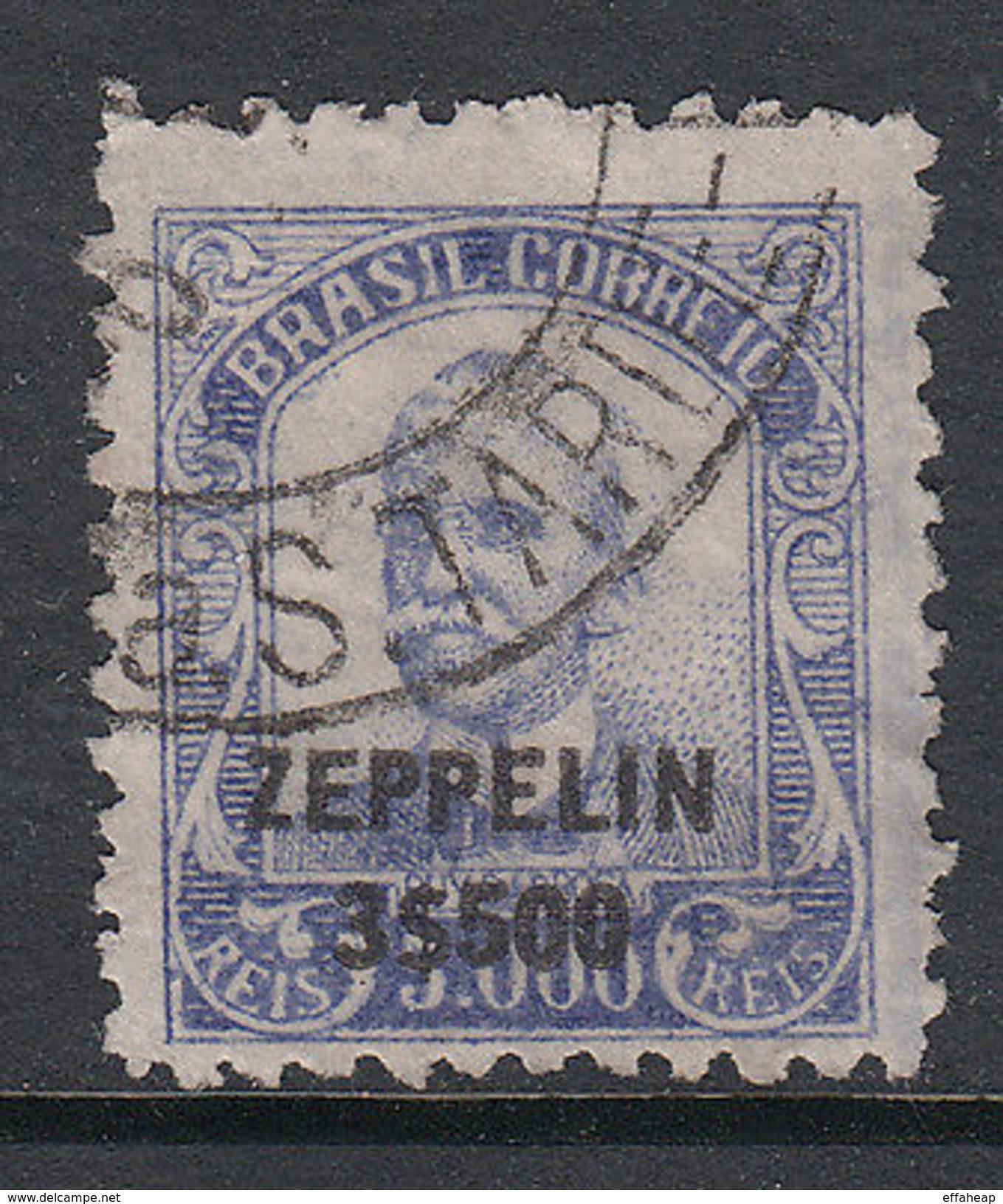 Brazil: Ruy Barbosa Overprinted Zeppelin 3$500 On 500r Blue, Used, C. 1931 - Unclassified