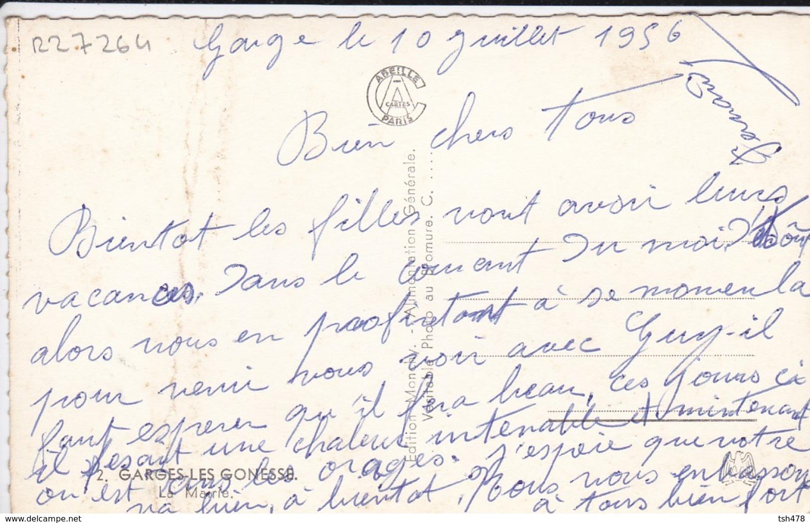 95-----RARE---GARGES LES GONESSE---la Mairie-( Attention Carte Plié En Deux )---voir 2 Scans - Garges Les Gonesses