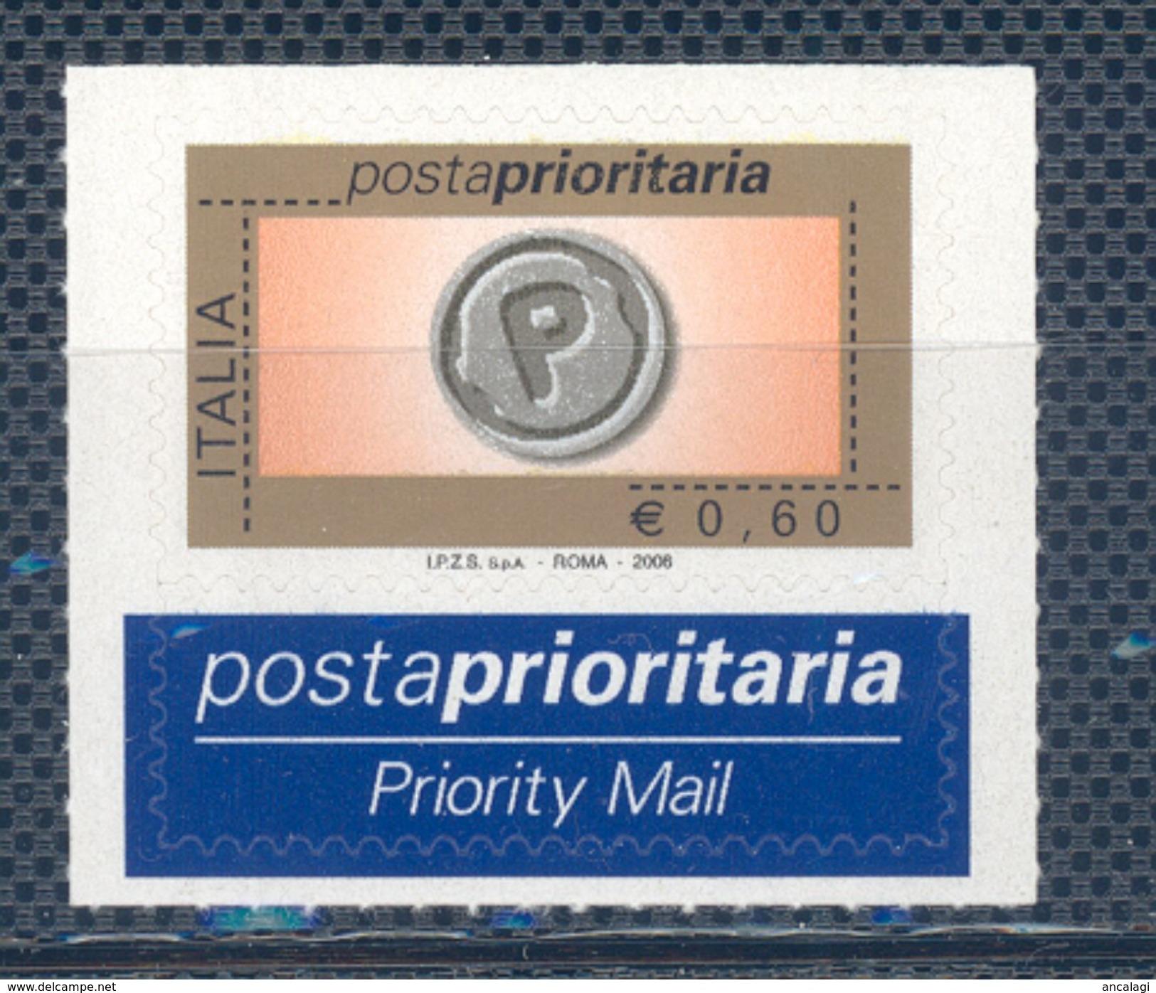 VA.0726 - PRIORITARIO 2006 - Un Frrancobollo Da € 0,60, Nuovo, 9^ Emissione - 2001-10:  Nuovi