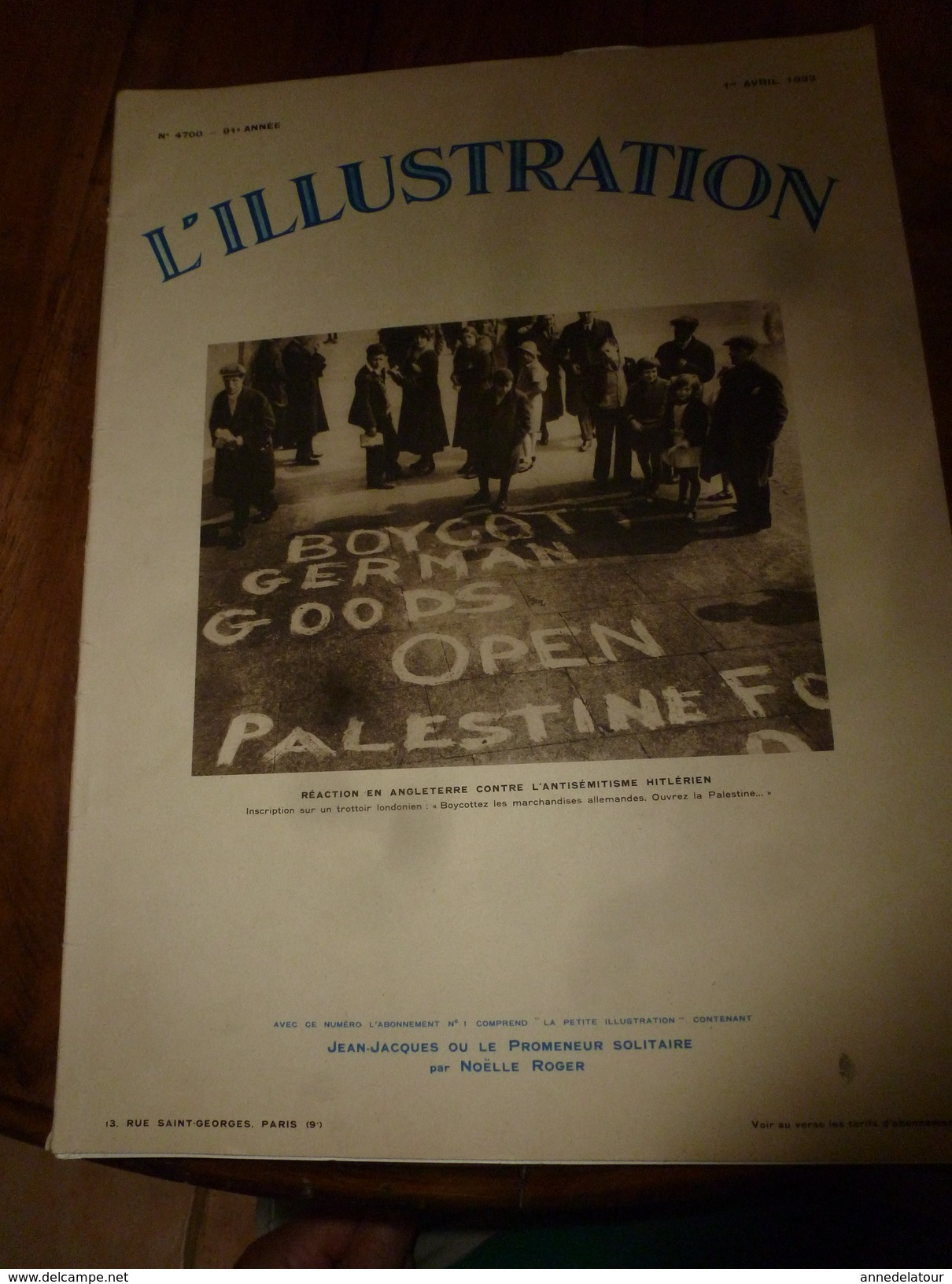 1933 L'ILLUSTRATION:Reichswehr Au Lustgatten; Atar,Tindouf,Akka,Bou Akba,Nomades De Chinguetti;Gros-Bois-en-Montagne;etc - Journaux - Quotidiens