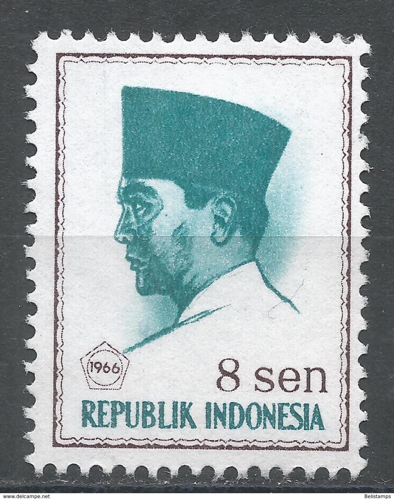 Indonesia 1966. Scott #671 (MNG) President Sukarno, Président - Indonesia
