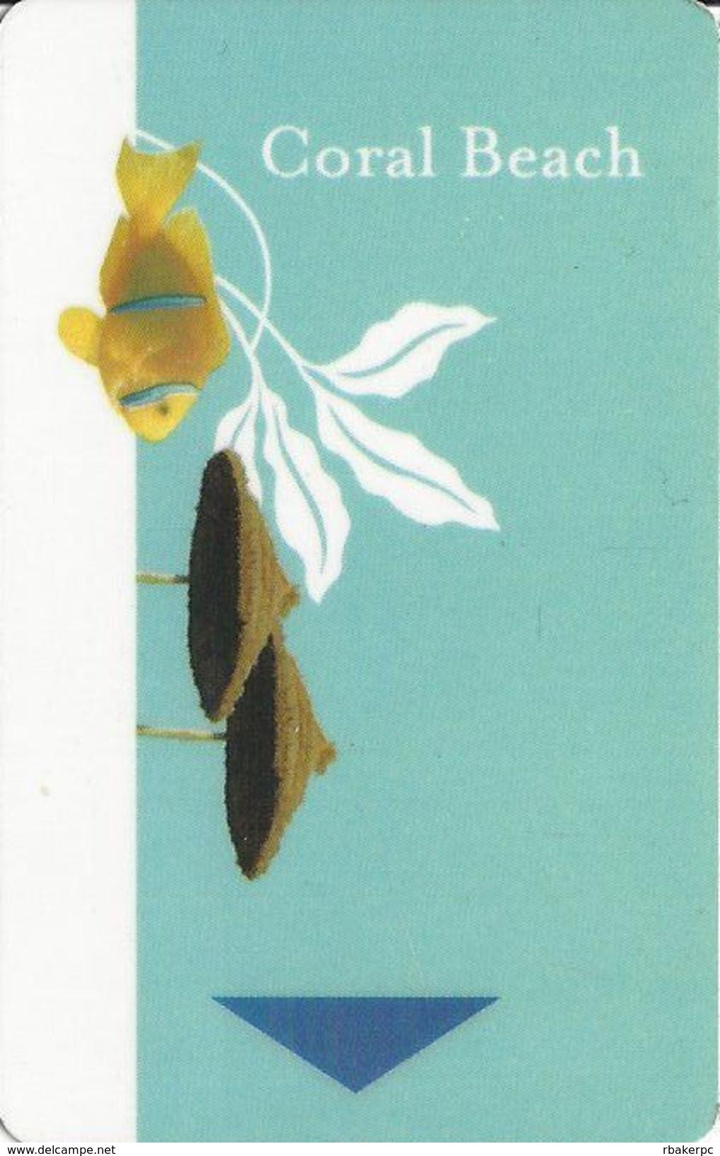 Coral Beach - Fattal - Hotel Room Key Card - Hotel Keycards