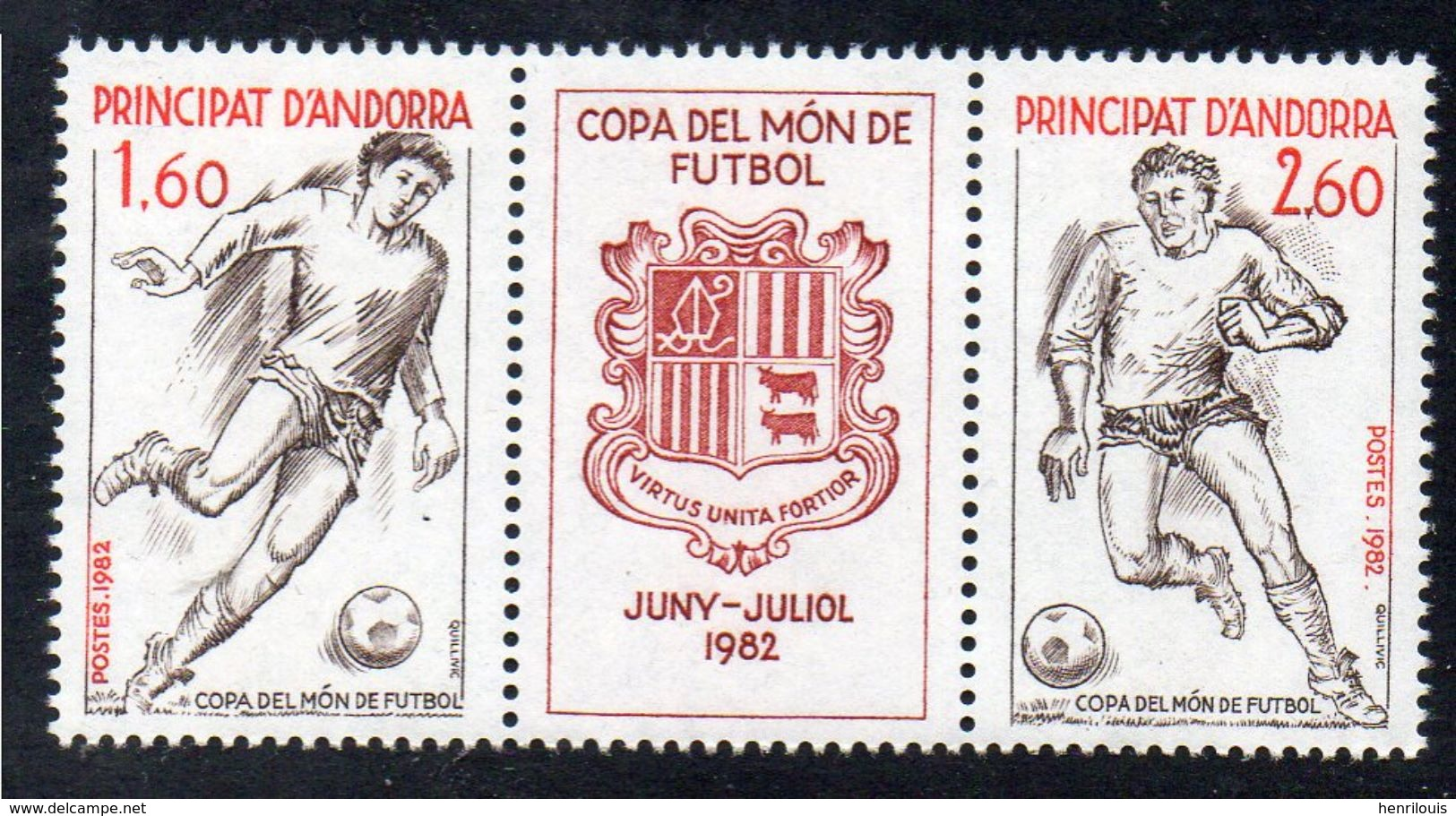 ANDORRE   Timbres  Neufs ** De 1982 (ref 382 E )   Sport - Football - Unused Stamps