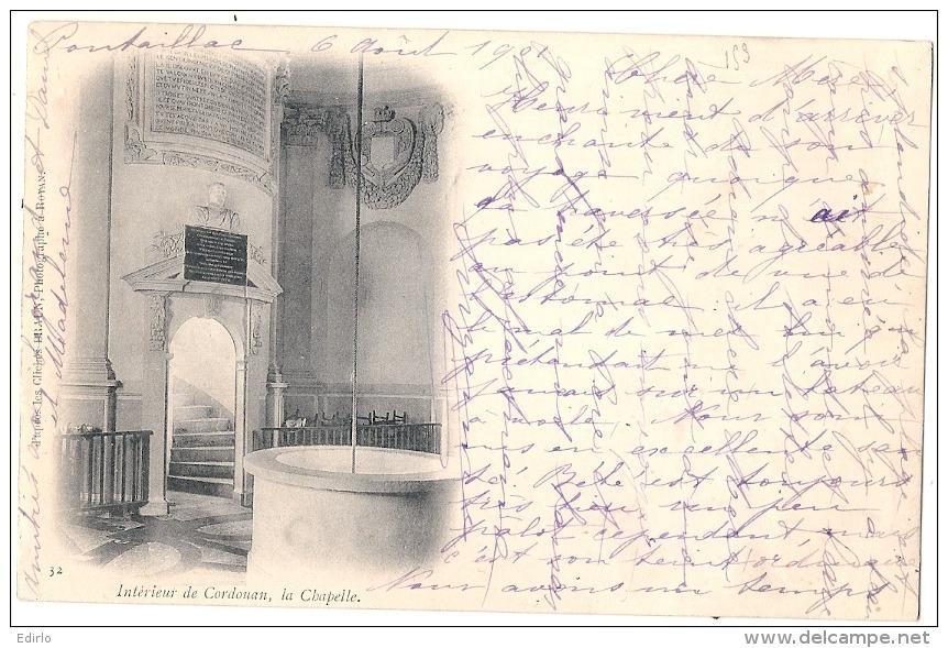 ----- 17 ----- Intérieur De Cordouan La Chapelle - Précurseur Timbre Arraché(aminci) Très Peu Courante - Autres Communes