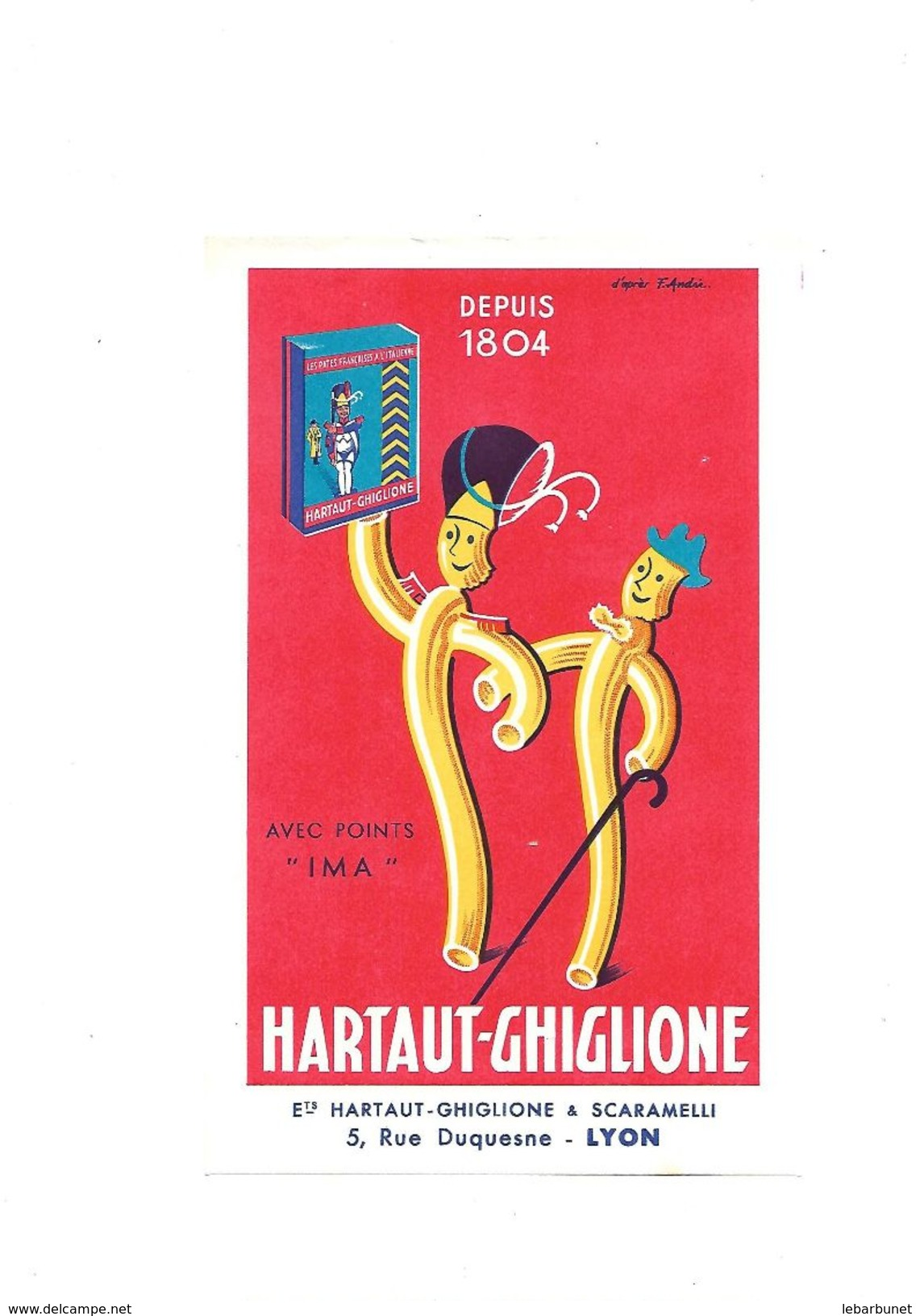 Buvard Hartaut-Ghiglione Depuis 1804 - H