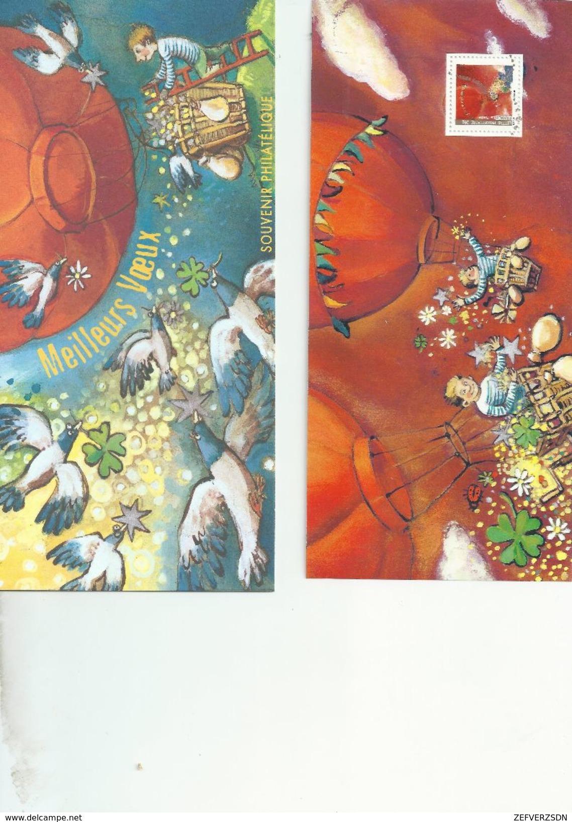BLOCS BLOC SOUVENIRS SOUVENIR PHILATELIQUE FRANCE TIMBRE TIMBRES MEILLEURS VOEUX - Blocs Souvenir