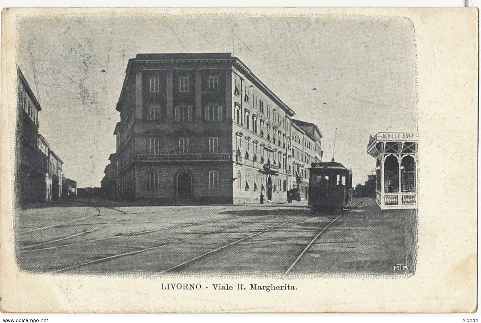 Livorno Viale R. Margherita  To Max Claass German Consulate Napoli Tram - Livorno
