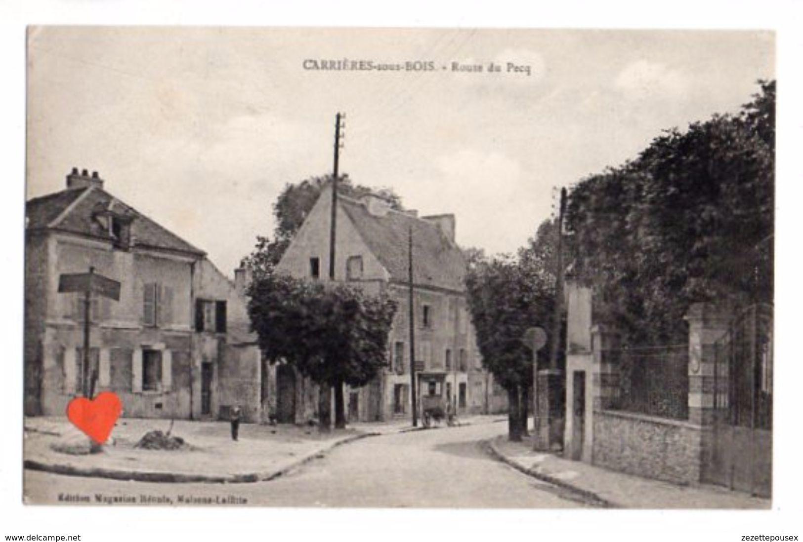38573-ZE-78-CARRIERES-sous-BOIS-Route Du Pecq--------charette - Carrières-sur-Seine