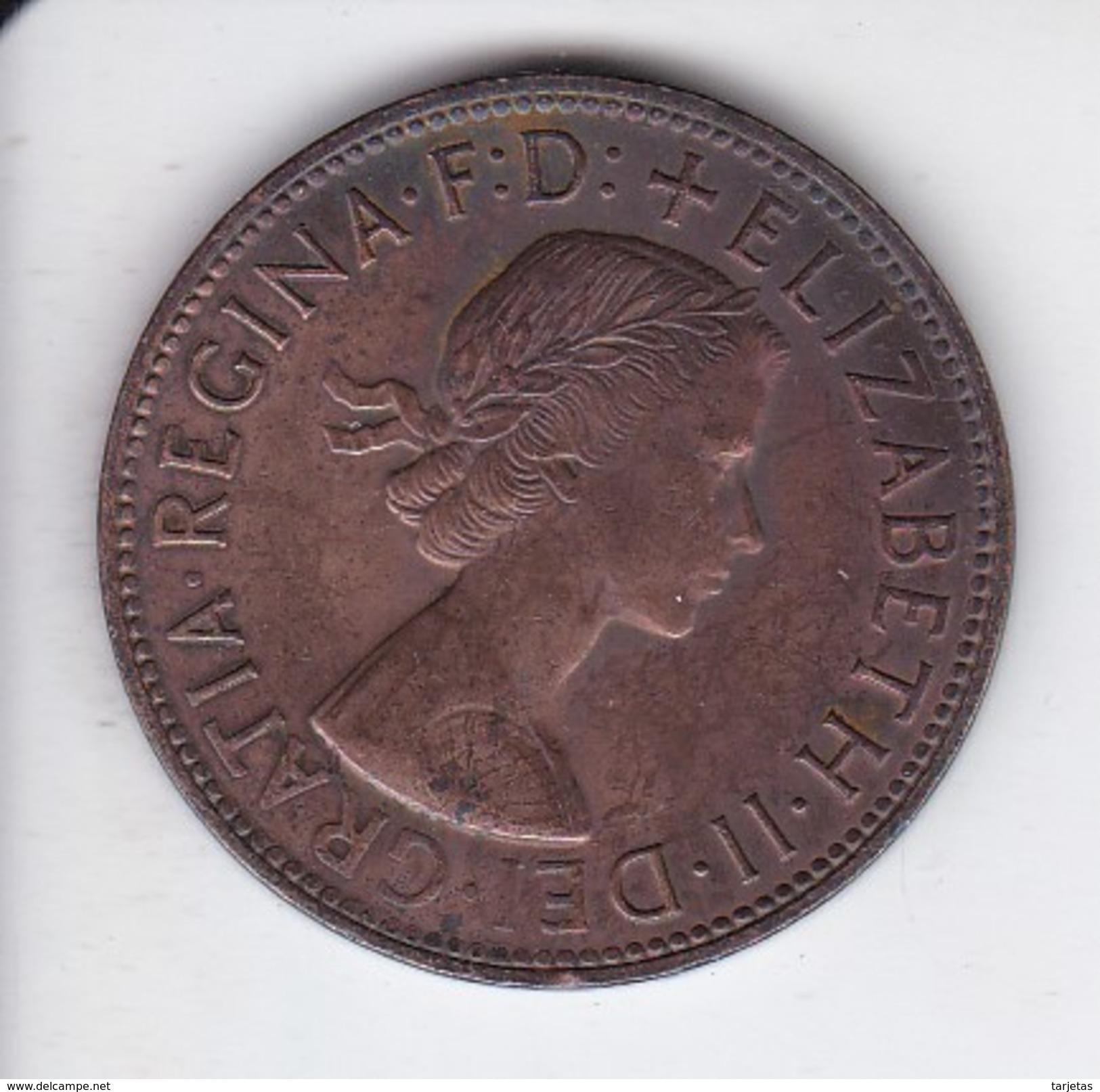 MONEDA DE AUSTRALIA DE 1 PENNY DEL AÑO 1964 CANGURO (KANGAROO) - Penny