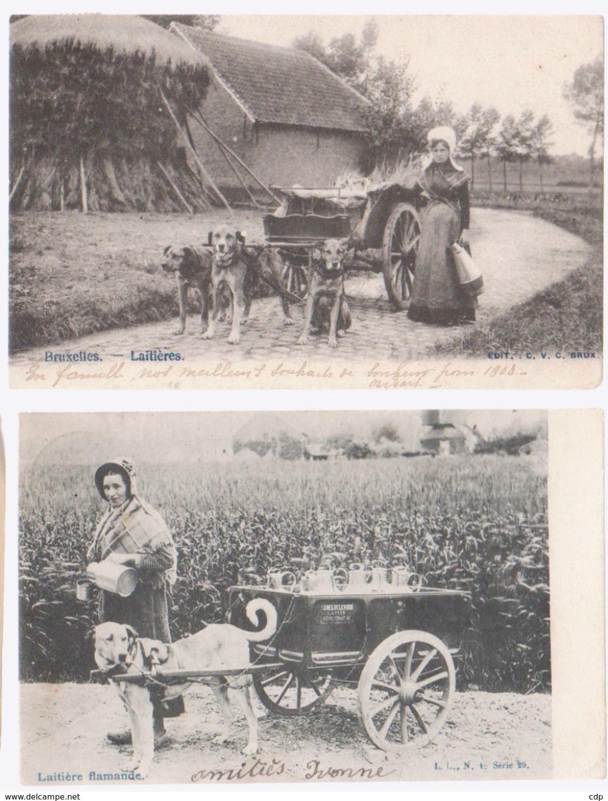Lot 2 Cpa Laitière Flamande Et Laitière Bruxelloise  1902 - Autres