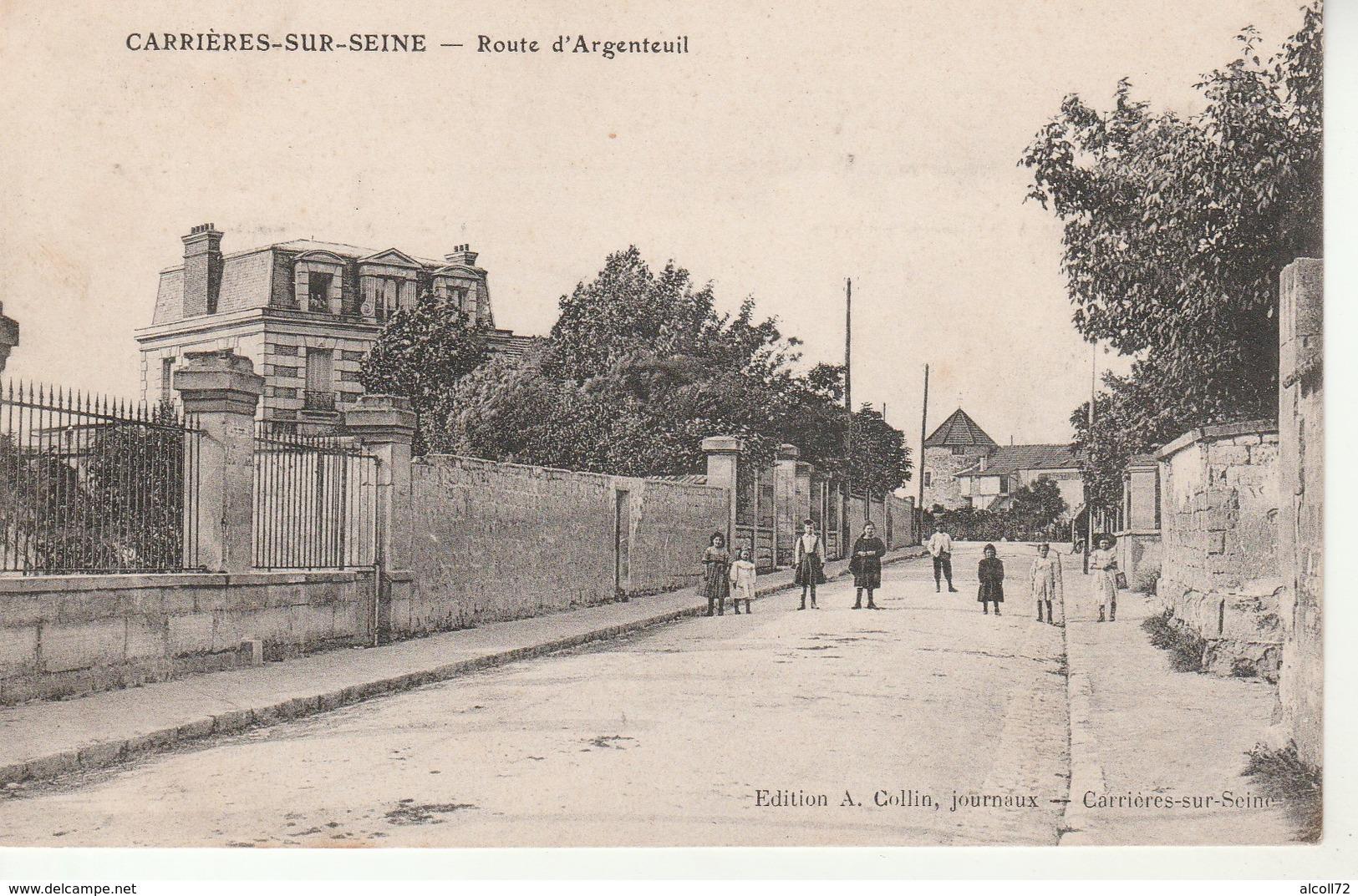 Carrieres Sur Seine-Route D'Argenteuil-Edit.Collin. - Carrières-sur-Seine