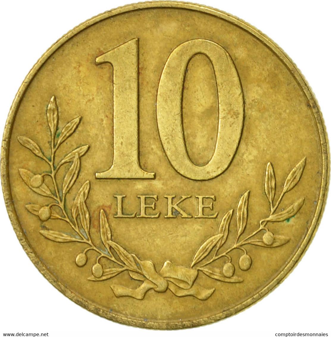 Albania, 10 Lekë, 2000, Rome, TTB, Aluminum-Bronze, KM:77 - Albanie