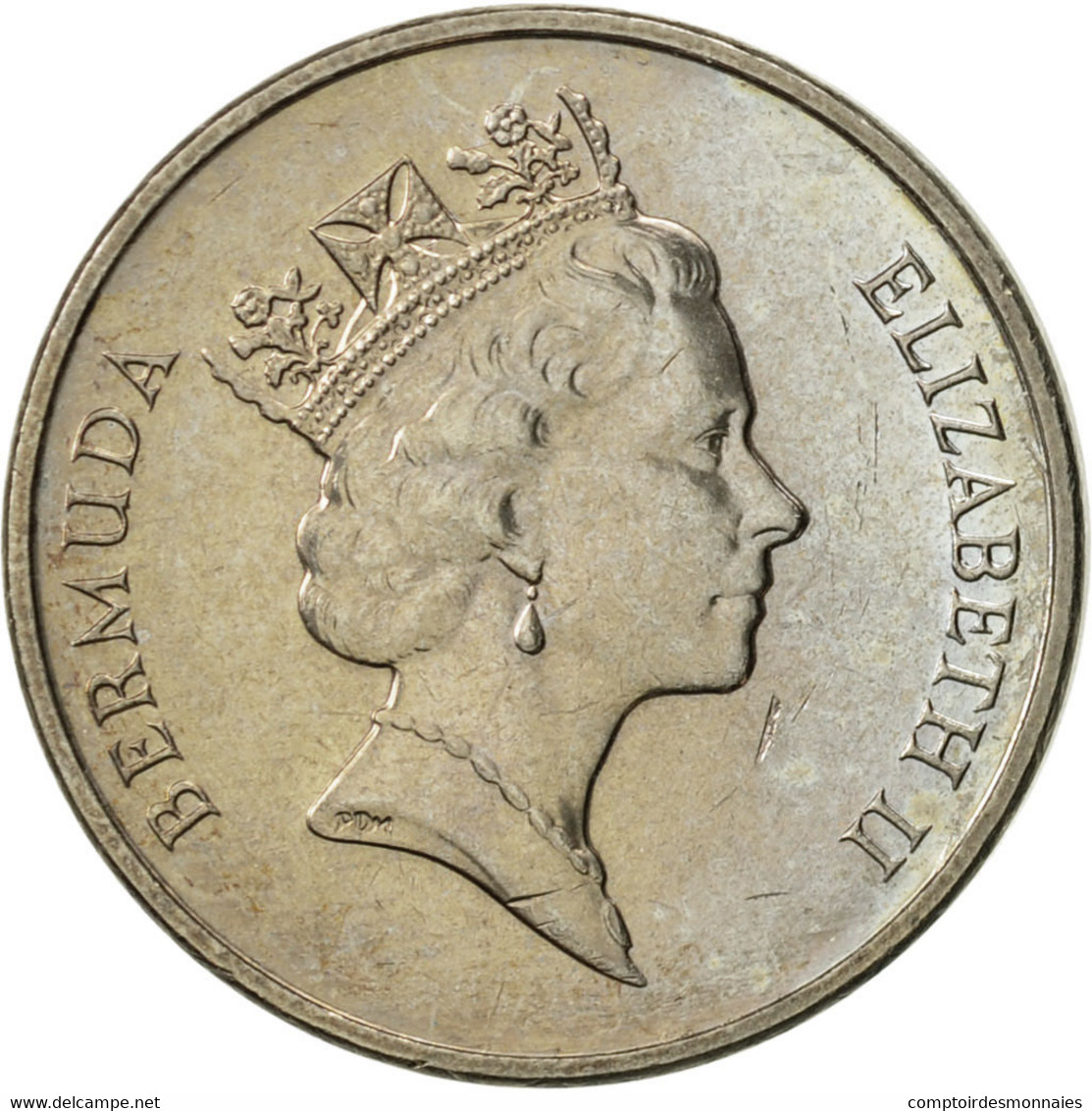 Bermuda, Elizabeth II, 5 Cents, 1997, SUP, Copper-nickel, KM:45 - Bermudes