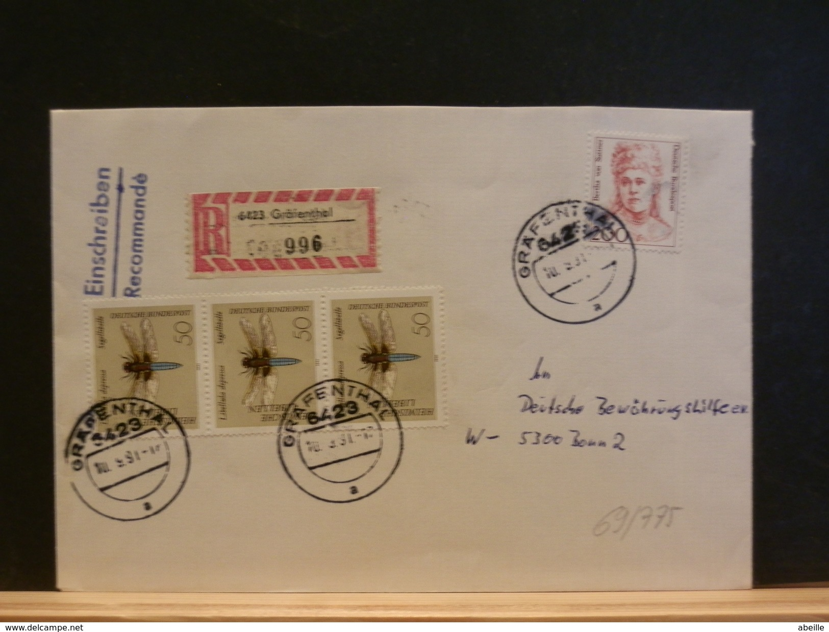 69/775  LETTRE ALLEMAGNE - Insects