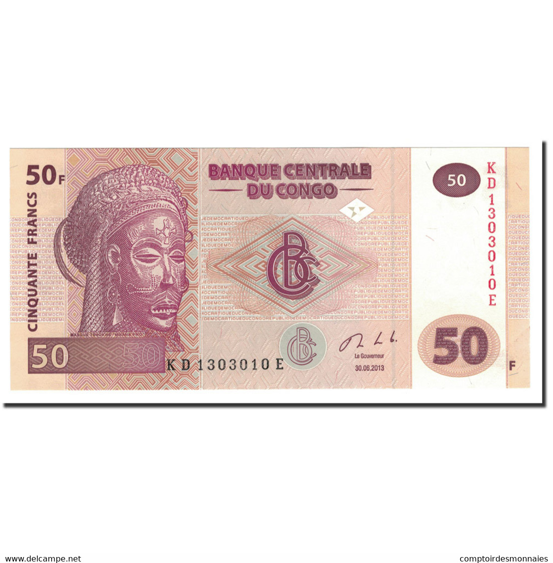 Congo Democratic Republic, 50 Francs, 2013, 2013-06-30, NEUF - Congo