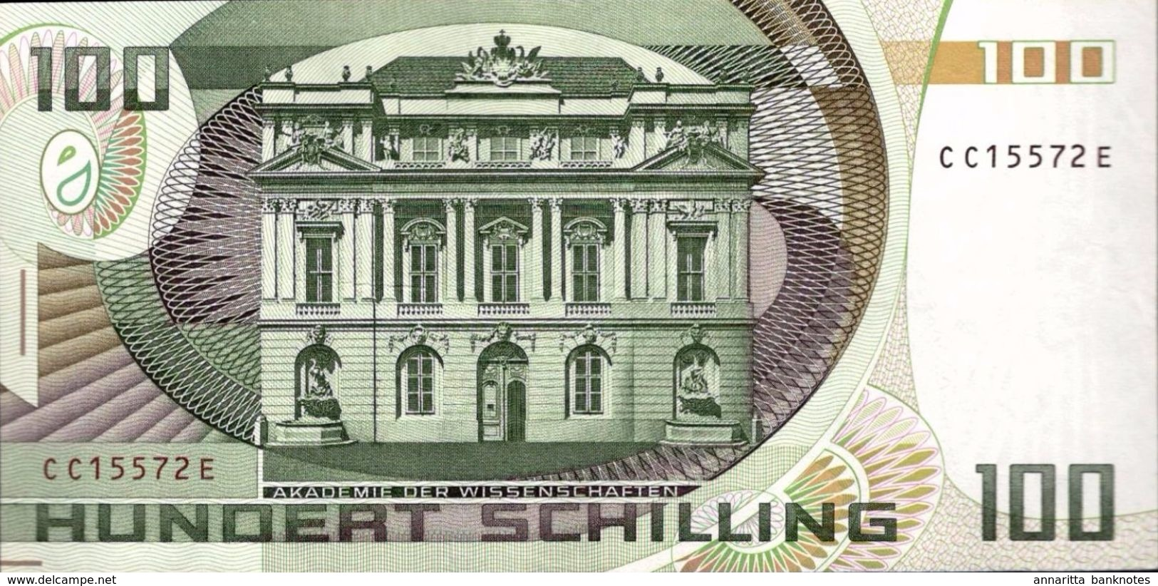 AUSTRIA 100 SCHILLING 1984 P-150a XF+ S/N SAME FONTS [AT255b] - Austria