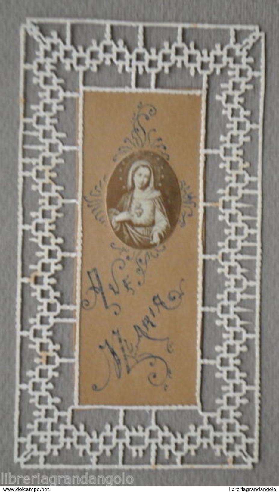 Santino Originale Traforato Suore Artigianale A Mano Cuore Maria Primi 1900 - Altre Collezioni