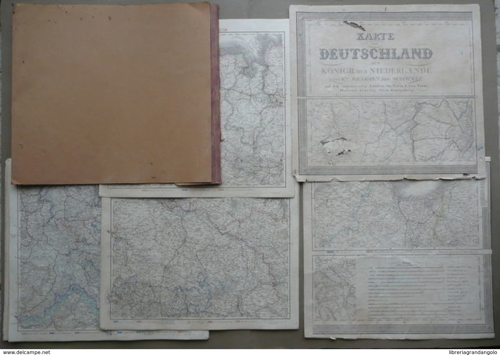 Stielers Karte Deutschland 25 Carte Stieler Germania Geografia 1869 Cartografia - Altri
